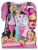 Mattel Barbie BDB32 Bügelbild Designer Puppe mit viel Zubehör NEU