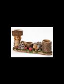 Teeelichthalter Igelfamilie Kerzenhalter Kerzenständer Herbst Deko Igel NEU