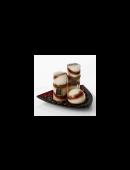 Kerzen Set Kaffee 5 tlg. mit Teller Kerzenset Duftkerzen Deko Tischdekoration Kerzenhalter NEU